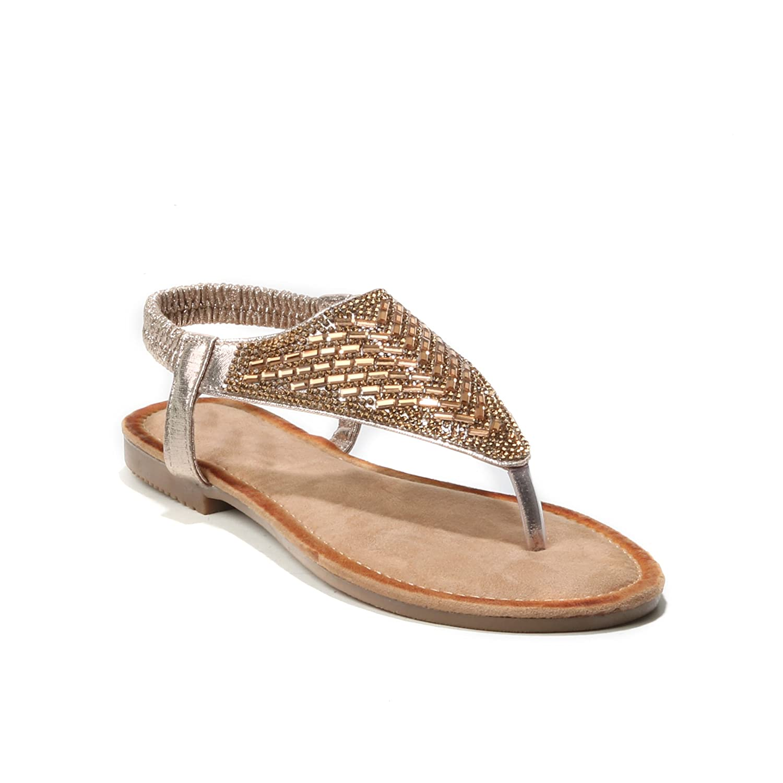 Sandara Damen Schuhe Sandalen Strass Zehentrenner Slingback Thong Sandal Sandalias Chaussures Femme