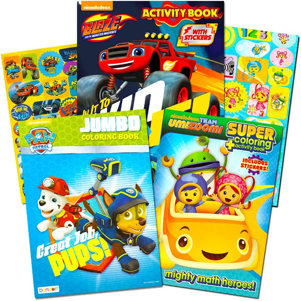 - Amazon.com: Nickelodeon Jr Coloring Book Super Set -- 3 Coloring