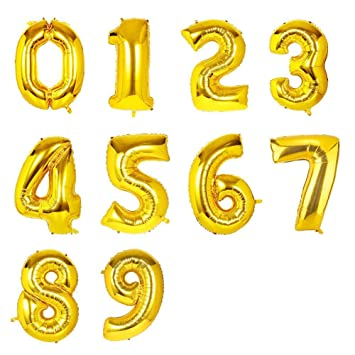 "Auto Inflar 16/"" pulgadas Foil Number /& Letras Globos Feliz Cumpleaños Balons"