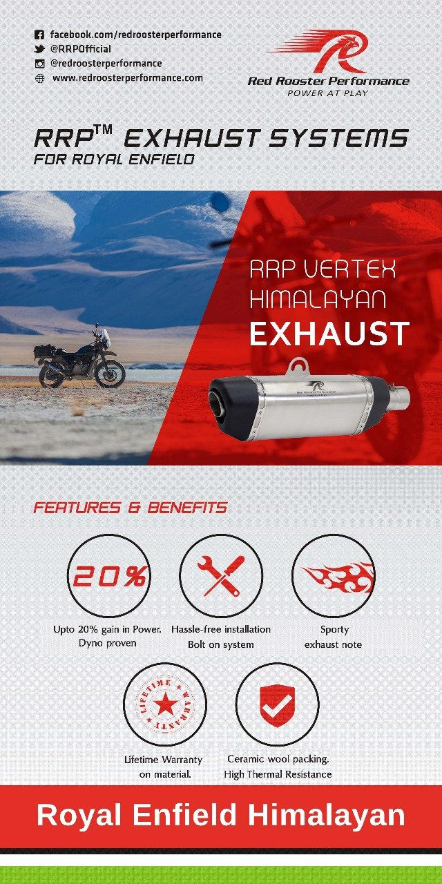 Red Rooster Performance Rrp Vertex Re Himalayan Exhaust System