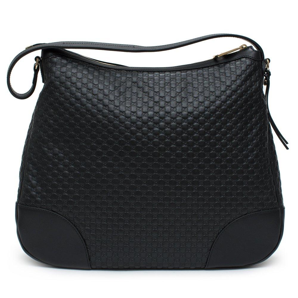 e3690025f Amazon.com: Gucci Emily Micro GG Guccissima Black Leather Shoulder Handbag  Bag New: Shoes