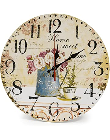 relojes de pared baratos amazon