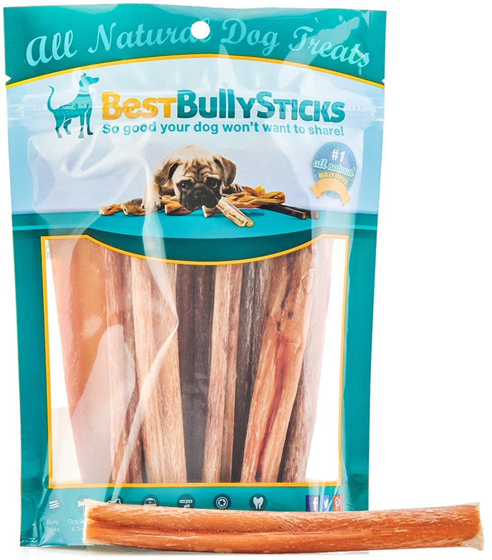 Best Bully Sticks 100% Natural 6-inch Bully Sticks by (8oz. Bag)