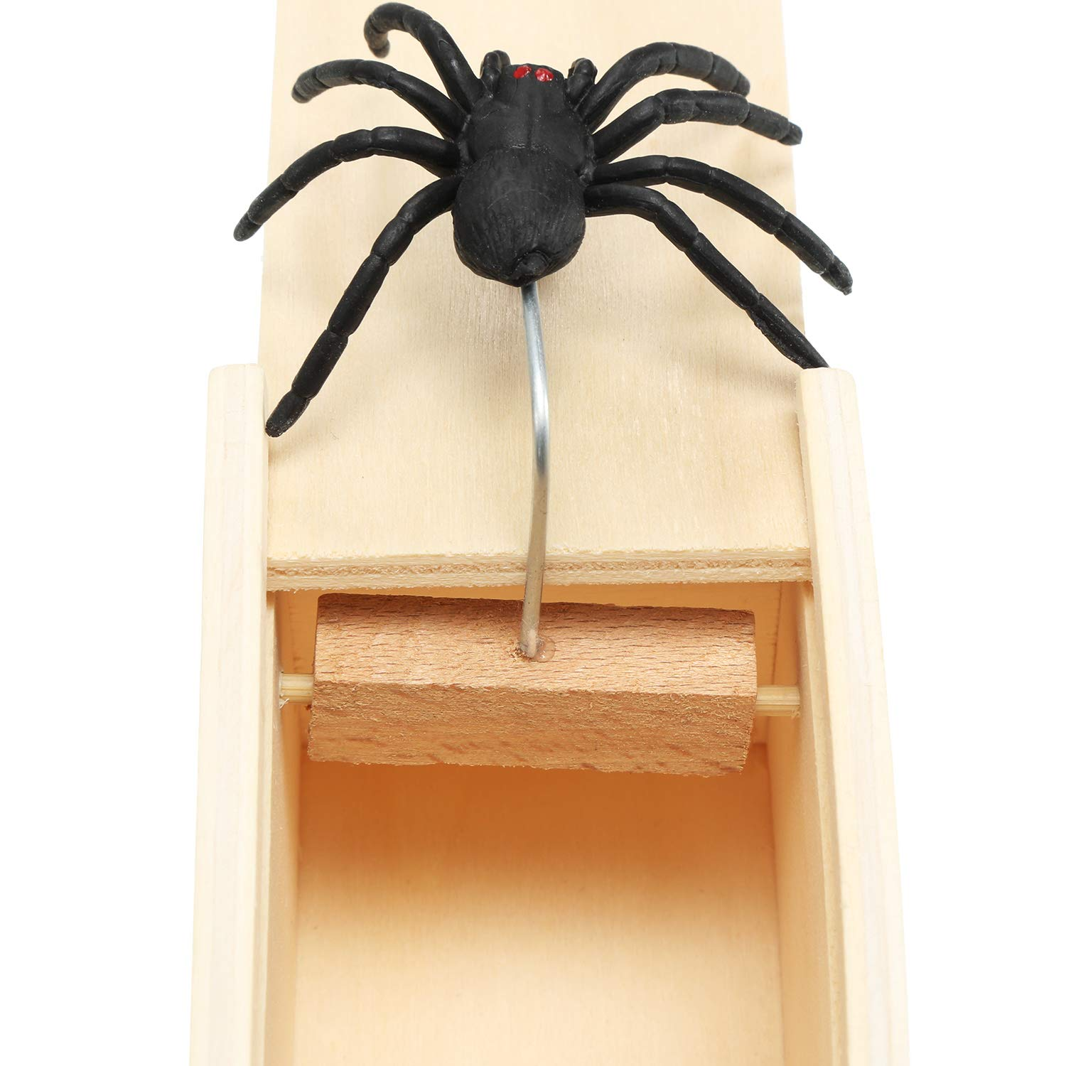 Party Supplies Bememo 2 Pieces Wooden Boxes Spider Mouse Boxes for April Fools Day