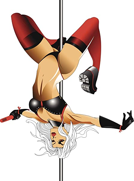 Sexy cartoon stripper