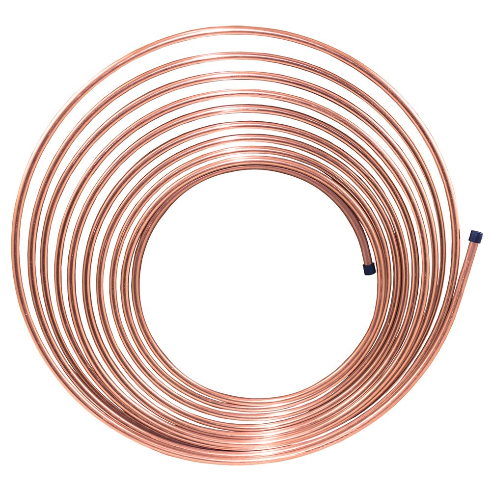 25 ft 1/4 in Copper-Nickel Brake Line Tubing Coil (Universal Size)