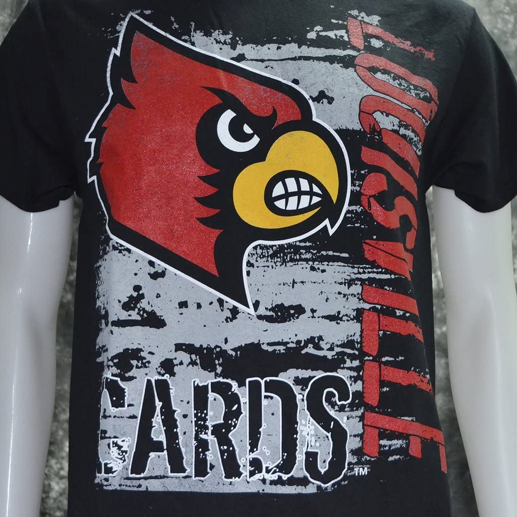 University of Louisville Super Cards on Black Shirt
