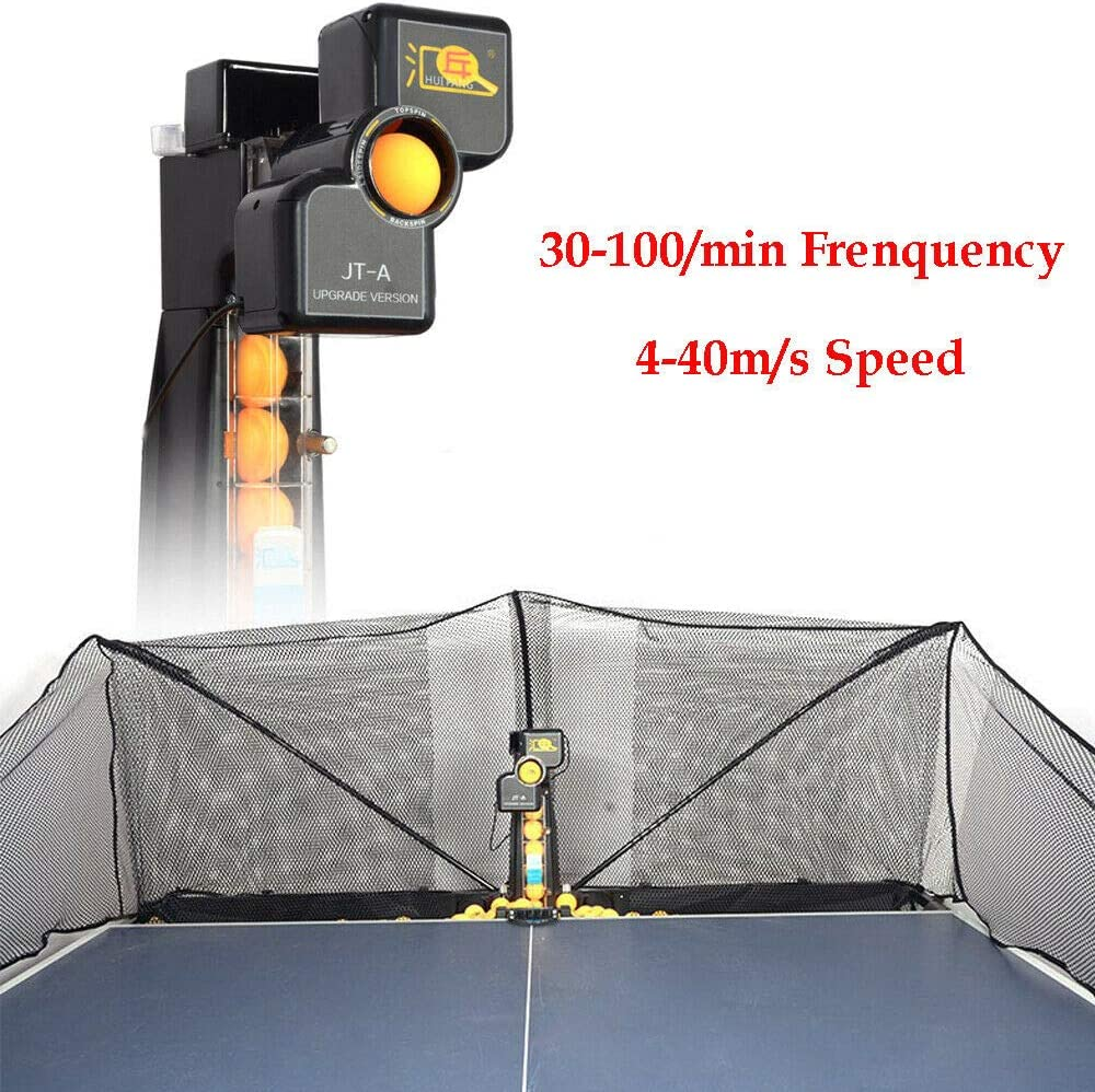 Gdrasuya 50W JT-A Table Tennis Robot Automatic Ping-Pong Ball Machine Practice Training Multifunctional Recycle w//Net USA Stock