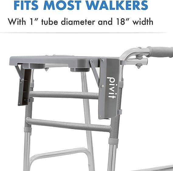 Amazon.com: Pivit Walker - Bandeja plegable con portavasos ...