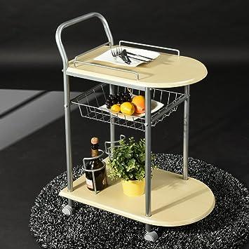 Amazon.com: HOMY CASA 2 Tier Wire Rolling Food Serving Cart, Build ...