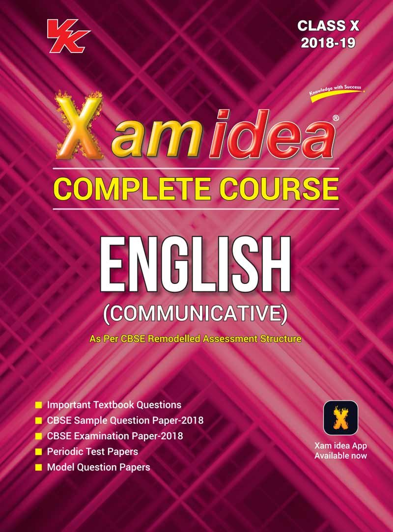Xam idea Complete Course English Class 10 - 2019 Exam: Amazon.in: VK Global  Publications: Books