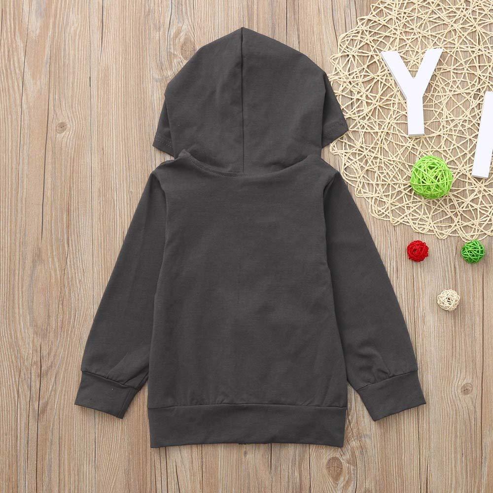 Pollyhb Toddler Baby Girls Boys Hooded Sweatshirt,Baby Long Sleeves Hoodie Coat Tops