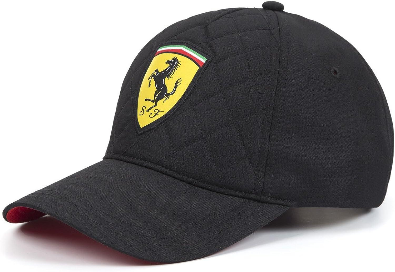 Ferrari Gorra de gorro de punto de edredón, fórmula 1, Negro ...