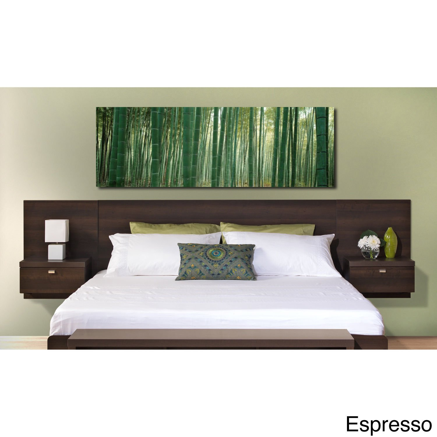 queen headboard full with size floating danish product teak chairish or nightstands modern
