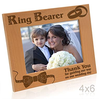 Kate Posh - Ring Bearer - Thank you for guiding our way on our wedding day - Picture Frame (4x6 Horizontal)