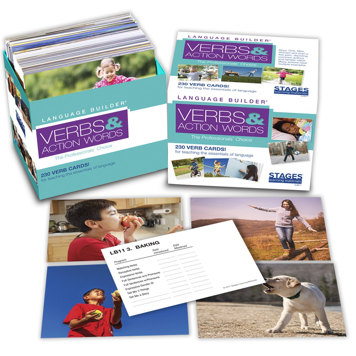 Stages Learning Materials Language Builder Verb Flash Cards Photo Vocabulary Autism Learning Products for Aba Therapy & Speech Articulation by Stages Learning (Image #2)