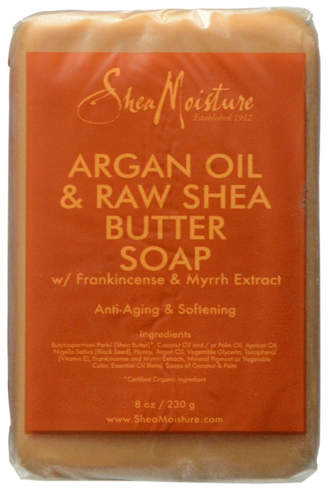 Shea Moisture Argan Oil & Raw Shea Butter Soap, 8 Ounce