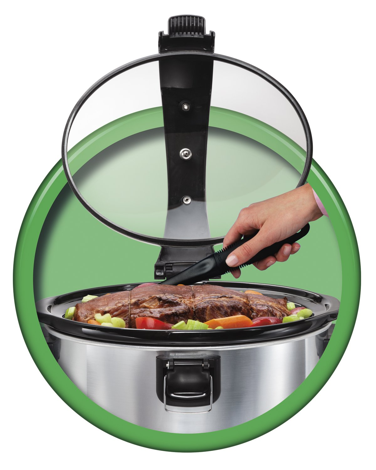 6-Quart Hamilton Beach 33467 Programmable Stay or Go Slow Cooker