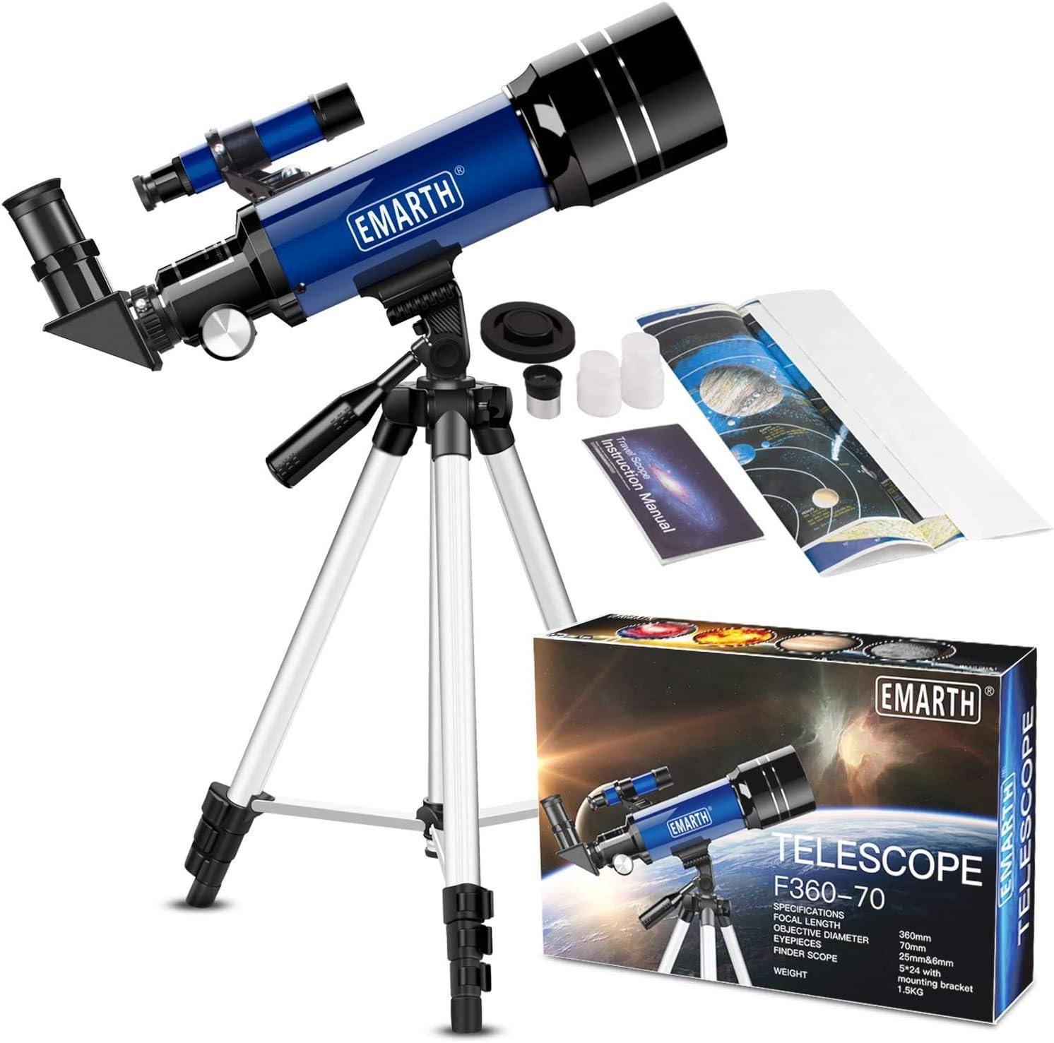 Emarth Teleskop Für Kinder Und Einsteiger Für Kamera