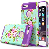 GBSELL Fresh Flower Hybrid ShockProof Hard Protective Case Cover for iphone 7 Plus