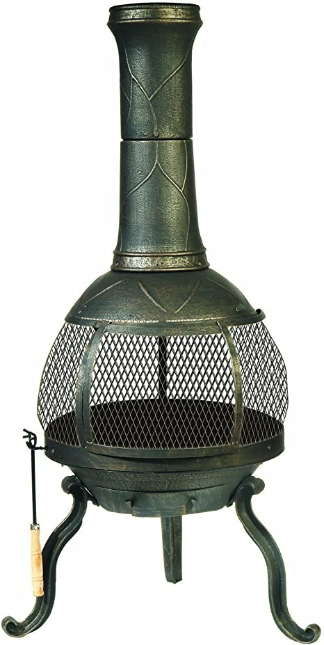 Amazon Com Deckmate Sonora Outdoor Chimenea Fireplace Model 30199 Kay Outdoor Fireplace Garden Outdoor