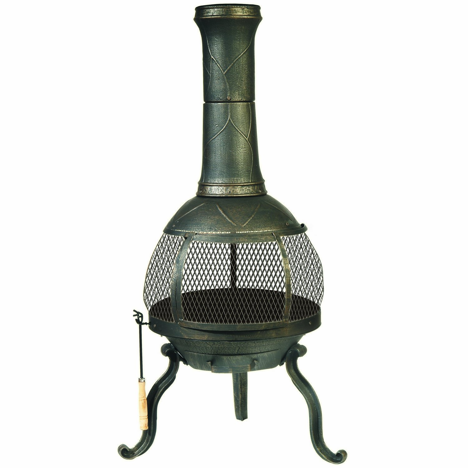 amazon com deckmate sonora outdoor chimenea fireplace model 30199