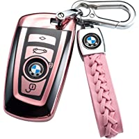 Key Fob Cover for BMW, Key Fob Case for BMW 1 3 4 5 6 7 Series X3 X4 M5 M6 GT3 GT5 Remote Control Key Premium Soft TPU…