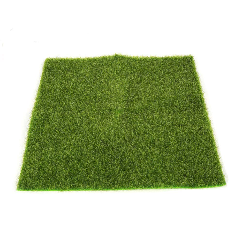 Hisoul Hot  Dollhouse Accessories Washable Artificial Garden Turf Lawn Moss Miniature Craft for DIY Micro Landscaping and Mini Gardening Props (Green, L-L x W:12 x 12inch)