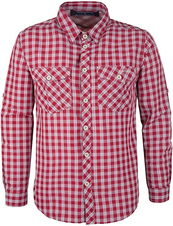 Mountain Warehouse Camisa Convertible Travel Extreme para Hombre Rojo S: Amazon.es: Ropa y accesorios