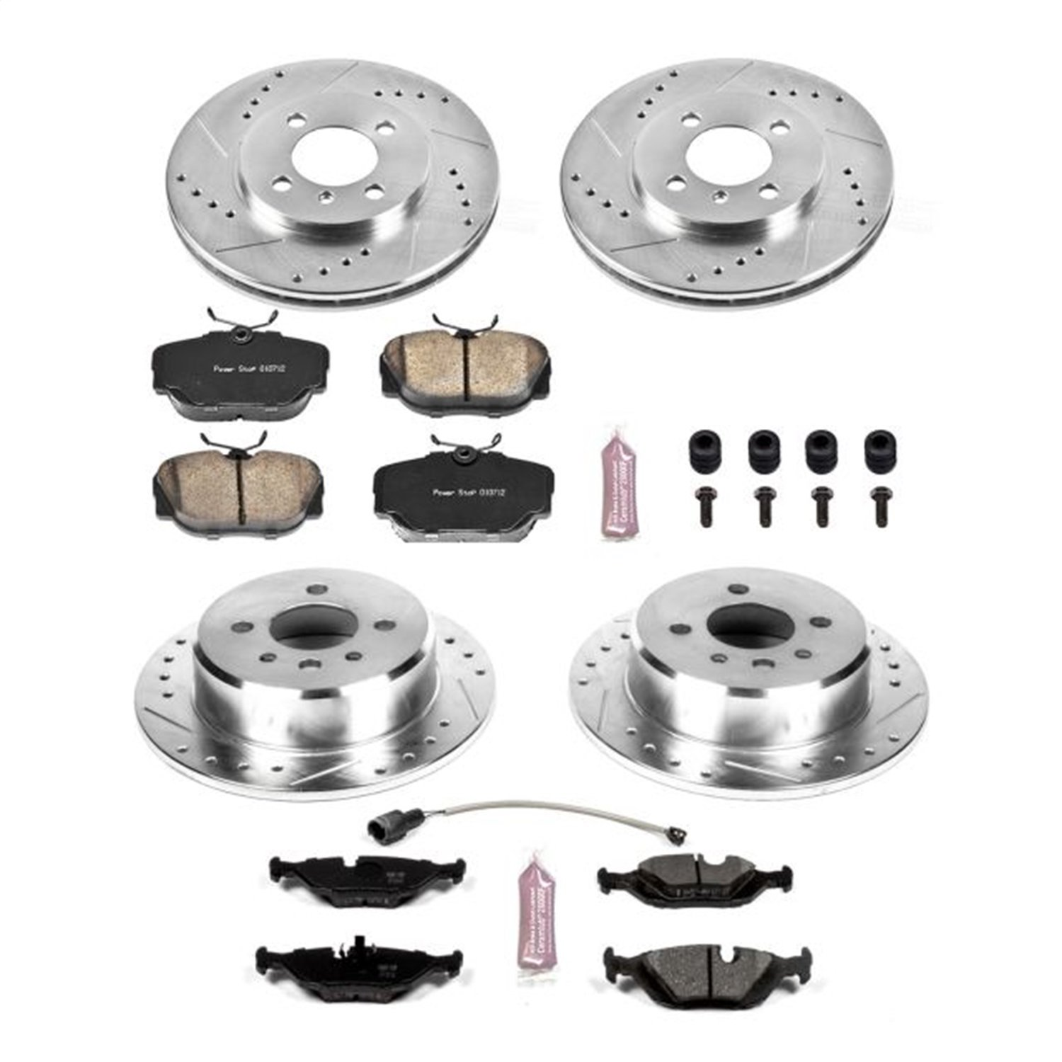Power Stop K4167 Front and Rear One-Click Brake Kit