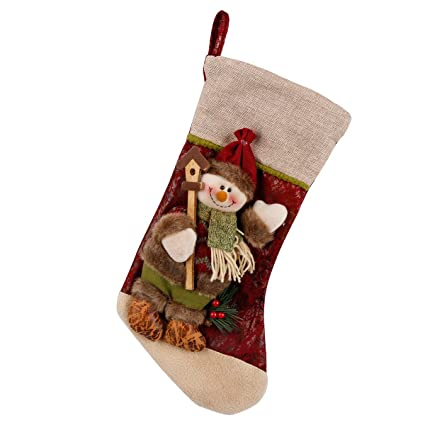 Calcetines Navideños, Forhouse 3D Feliz Navidad Socks Decoraciones Regalo Stocking Hanging Present Bag Caramelo Calcetines
