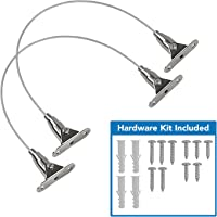 Mount-It! Furniture Anti-Tip Anchor - Steel Child Safety Straps | Secure Wall Anchors for Bookshelf, Dresser, Cabinet…