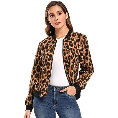 MISS MOLY Women's Bomber Jackets Long Sleeve Zip Up Lightweight Coat at Women's Coats Shop