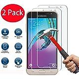 2 Pack - Samsung Galaxy J3 2016 Verre Trempé, FoneExpert® Vitre Protection Film de protecteur d'écran Glass Film Tempered Glass Screen Protector Pour Samsung Galaxy J3 2016