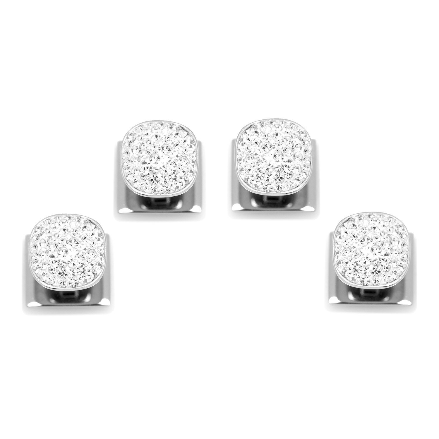 Ox and Bull Trading Co. White Pave Crystal Studs