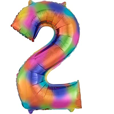 "34"" NUMBER 2 RAINBOW SPLASH-PKG: Toys & Games"