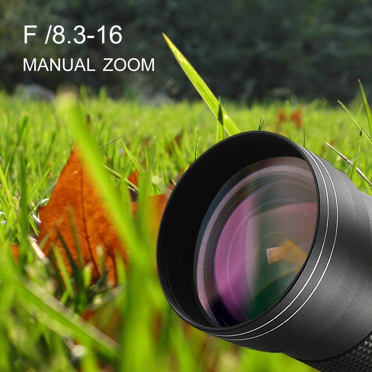 Detectorcatty 420-800mm f//8.3-16 Telephoto Lens for DSLR T Mount Camera D7200 D5300 D5200 D3300 D3200 D3000 D7100 D7000