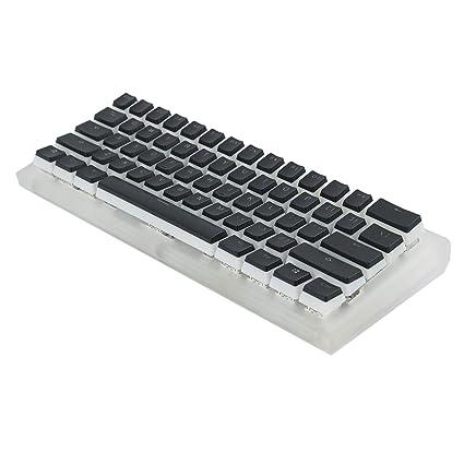 YMDK CNC Acrylic Diamond RGB Fully Programmable Gateron Switches PBT Double  Shot Keyset 61 60% Mini Mechanical Keyboard (Gateron Black)