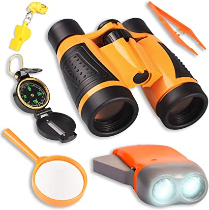 Hunting Hiking Educational Whistle New Kids Binaculars Shock Proof Oudor