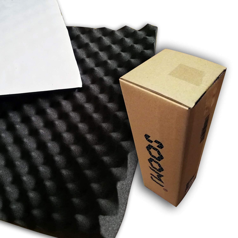 soomj - Espuma de absorción acústica insonorizadora para estudio de sonido 40 x 100 cm, 0,4 m²: Amazon.es: Instrumentos musicales