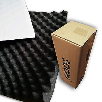 soomj - Espuma de absorción acústica insonorizadora para estudio de sonido 40 x 100 cm,