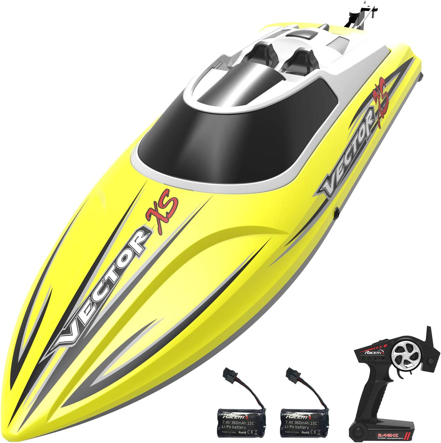 Vector 30 2.4G RC Racing Boat Brushed RTR High Speed Racer Auto-roll-back Black
