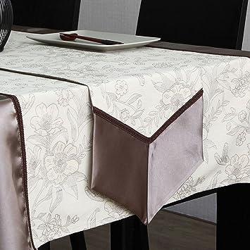 JIANFEI Tischläufer Doppelschicht Stoff klassisch Drucken Seide ...