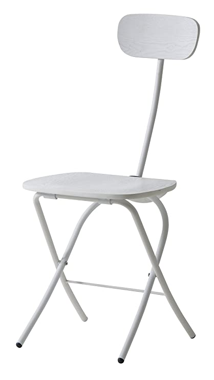 Amazon.com: Azumaya – Silla plegable (Acero y Blanco ...