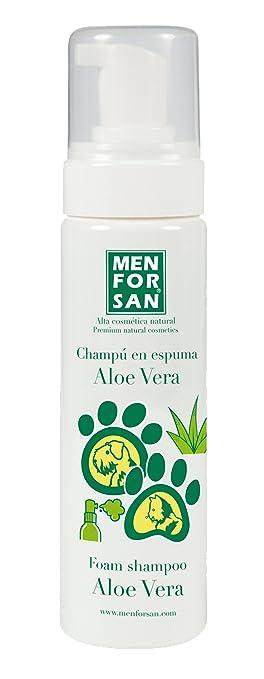 Champú Espuma Aloe Vera para Perros 200 ml - Para Perros y Gatos - Menforsan