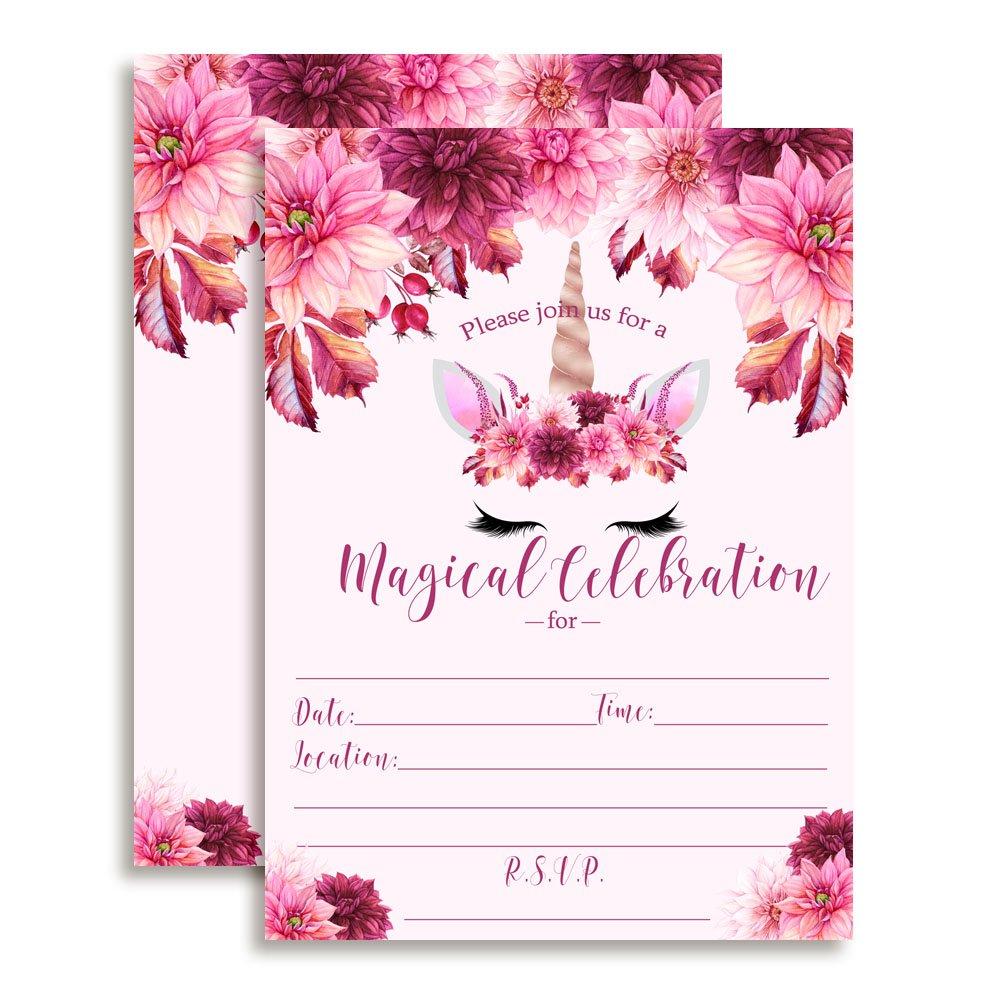 Unicorn Birthday Party Invitations by Amanda Creation   Birthday Wikii