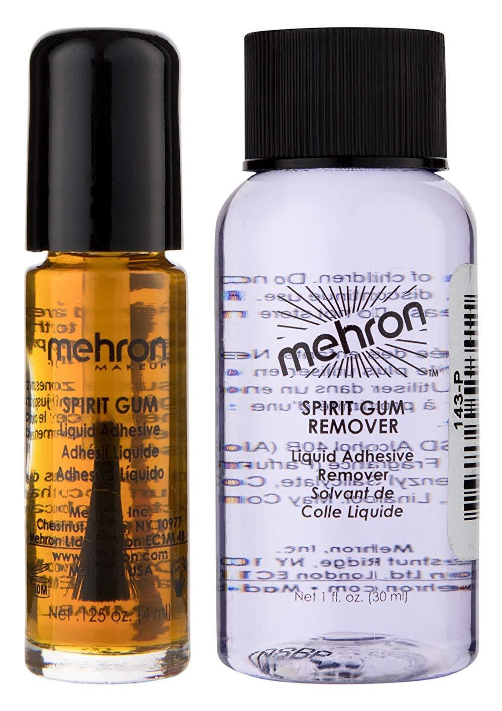 Mehron Makeup Spirit Gum and Spirit Gum Remover Combo set (.125 oz) by Mehron