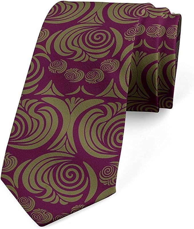 Corbata para hombres, adornos de estilo victoriano, 8 cm, sepia ...
