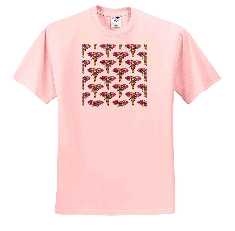 Rainbow Elephants Adult T-Shirt XL 3dRose Janna Salak Designs Jungle Animals ts/_319885