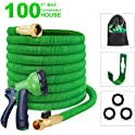 "100-Feet slendor Expandable Garden Hose 3/4"" Solid Brass Fitting"